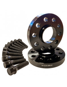 KSDCN175X1266M450         -KIT SEPARADOR NEGRO 17mm D-C 5X112 -M14E45-  MERCEDES- T. Esférico 14X150